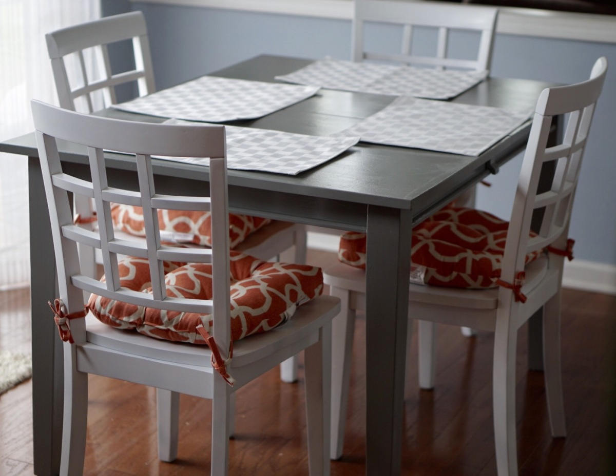 Kitchen table makeover sew sassy creations - Kitchen table redo ...